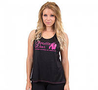 Майка для фитнеса Odessa Cross Back Tank Top - Black/Pink, фото 1