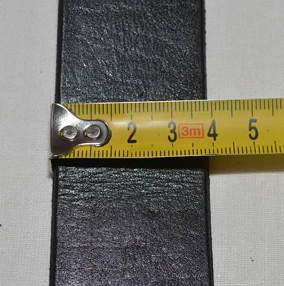 Ремень кожаный 5551черный, фото 3