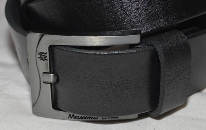 Ремень кожаный 5551черный, фото 2