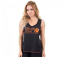 Майка для фитнеса Odessa Cross Back Tank Top - Black/Neon Orange, фото 1