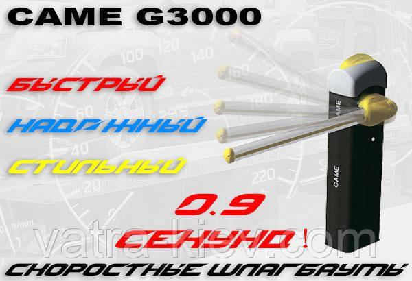 Скоростной шлагбаум для паркинга CAME G3000 RAPID