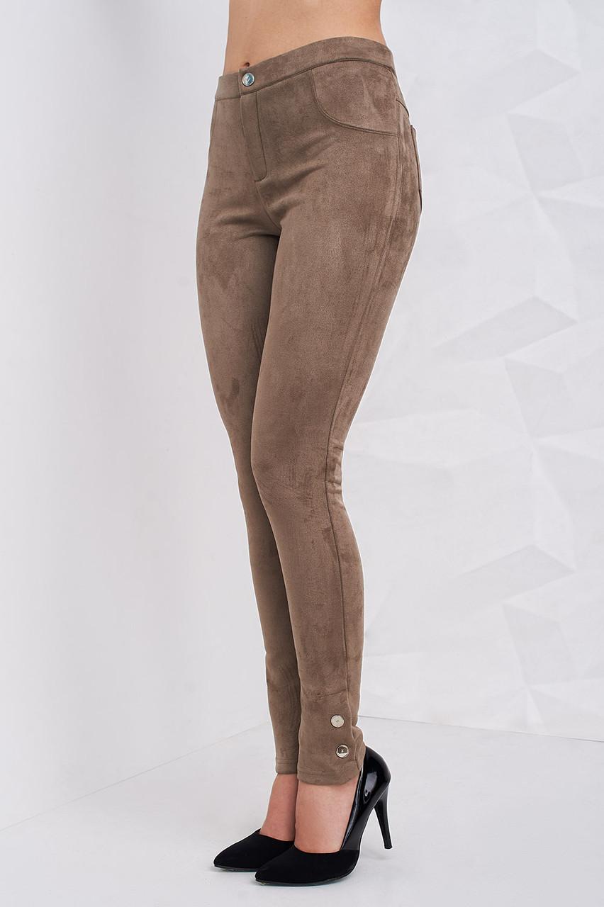fca4c67871505 Замшевые женские брюки с карманами зауженные к низу - Оптово-розничный  магазин одежды