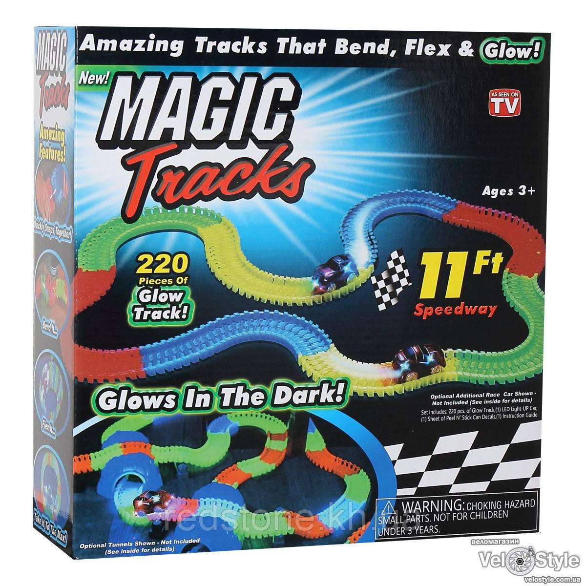 Magic Tracks светящийся трек+машинка 3,4 м. (220 дет.)