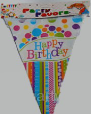 Гирлянда-флажки (вымпел) Happy Birthday шары 2,2м