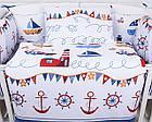 Наволочка та підковдра Asik Синя смужка і кораблики 2 предмета (2-004), фото 4