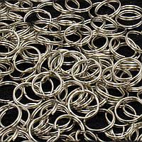(20 грамм) Колечки двойные заводные D-10мм Цена за 20 грамм (примерно 100 шт) Цвет - СТАЛЬНОЙ