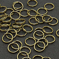 (20 грамм) Колечки двойные заводные D-8мм Цена за 20 грамм (примерно 140 шт) Цвет - БРОНЗА