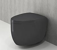 Унітаз приставний матовий антрацит BOCCHI TAORMINA ARCH 1016-020-0129+А0300-020 сидіння дюропласт