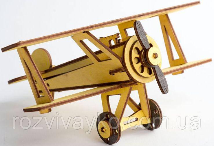 Деревянный 3D пазл ekoGoods Самолет