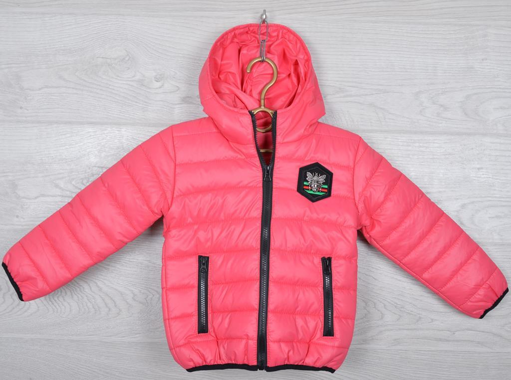 """Куртка детская демисезонная """"Moncler"""". 92-116 см (2-6 лет). Коралловая. Оптом."""