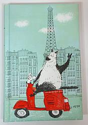 Блокнот поднимающий настроение (кот в Париже)