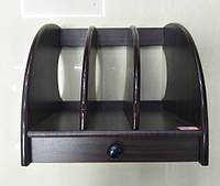 Органайзер, подставка офисная, лоток для папок дерево № 7703\9088-1