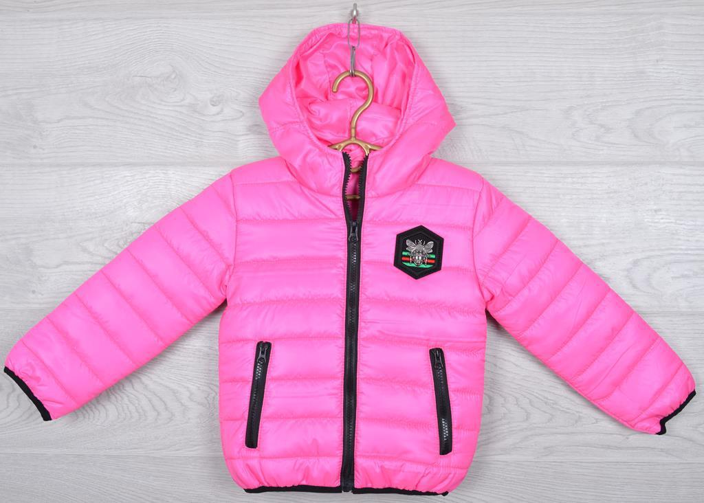 """Куртка детская демисезонная """"Moncler first"""". 92-116 см (2-6 лет). Розовая. Оптом."""