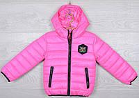 """Куртка детская демисезонная """"Moncler first"""". 92-116 см (2-6 лет). Розовая. Оптом., фото 1"""