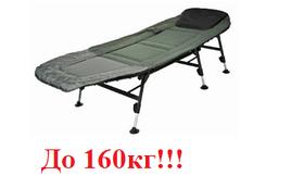 Раскладная рыбацкая кровать Ranger на 6 регулируемых ножках, раскладушка для карповой рыбалки
