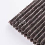 Плюш в полоску Stripes, цвет пепельно-коричневый., фото 3