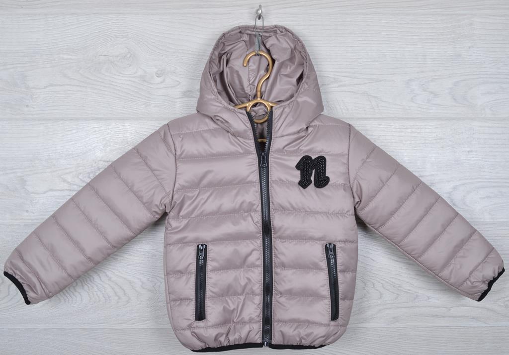 """Куртка детская демисезонная """"Moncler first"""". 92-116 см (2-6 лет). Бежевая. Оптом."""