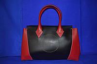 Комбинированная сумка Michael Kors (копия) черная с красным