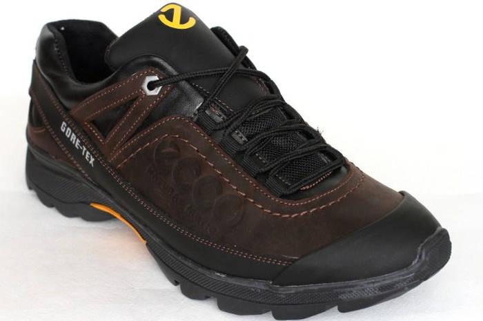 Демисезонные мужские кроссовки реплика Rec-Ecco коричневый кожа 96ccf07d16d