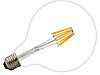 Лампа Эдисона светодиодная 8Вт G125-8S8W шар