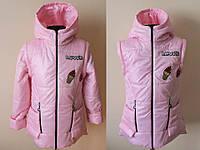 Детская куртка-жилетка для девочек 4-8 лет, фото 1