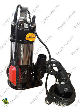 Насос фекальный Optima V750DF с режущим механизмом, фото 2