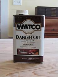 Датское масло, WATCO Danish Oil, цвет Тёмный орех, банка 0,946 л.