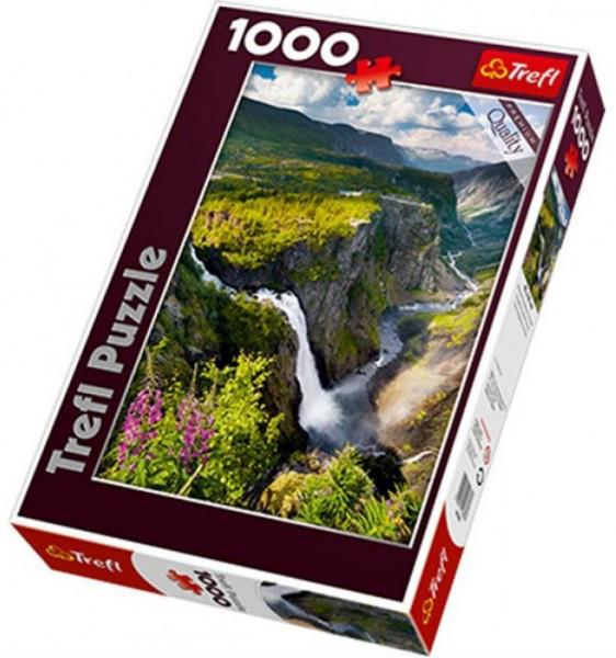 Пазлы Trefl Водопад Вёрингсфоссен. Норвегия, 1000 деталей (10382)