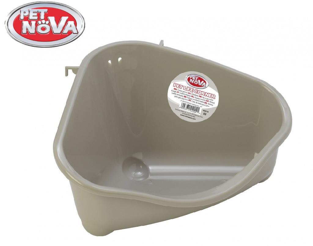 Угловой туалет для грызунов Pet Nova серый M