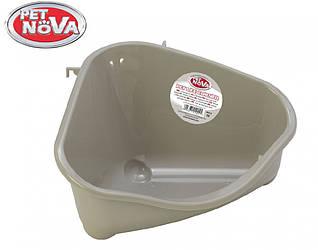 Кутовий туалет для гризунів Pet Nova M сірий