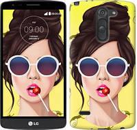 """Чехол на LG G3 Stylus D690 Девушка с чупа-чупсом """"3979c-89-328"""""""