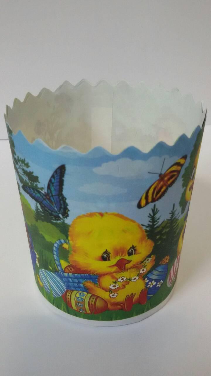 Бумажная форма для выпечки пасхи, d - 70