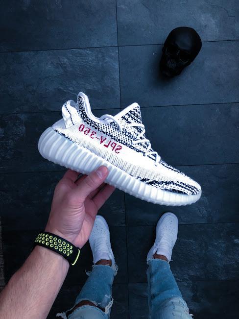 28dba625419a Мужские кроссовки adidas yeezy boost 350 v2 zebra AT-697, цена 1 500 ...