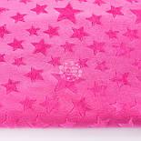 Плюшевая ткань малинового цвета со звёздами, фото 2