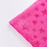 Плюшевая ткань малинового цвета со звёздами, фото 4