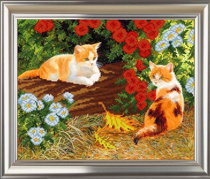 Рыжие котята вышивка
