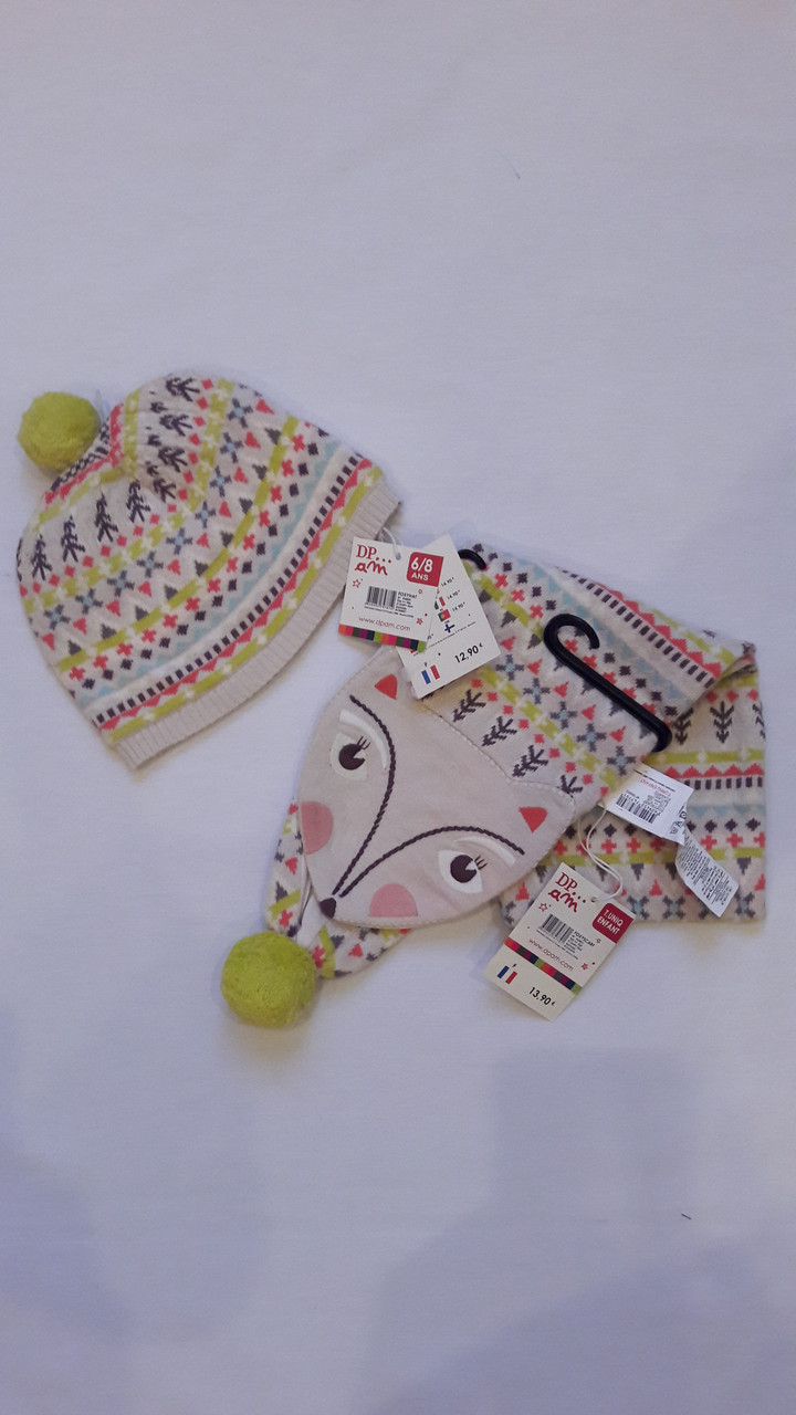 Шапочка с шарфиком для девочки DPam Foxy