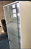 Шкаф-витрина с подсветкой и прозрачными стеклянными полочками, фото 3