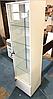 Шкаф-витрина с подсветкой и прозрачными стеклянными полочками, фото 2