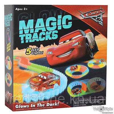 Magic Tracks Cars светящийся трек+машинка 320 дет, 5м.