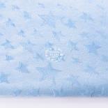 Плюшевая ткань голубого цвета со звёздами, фото 2