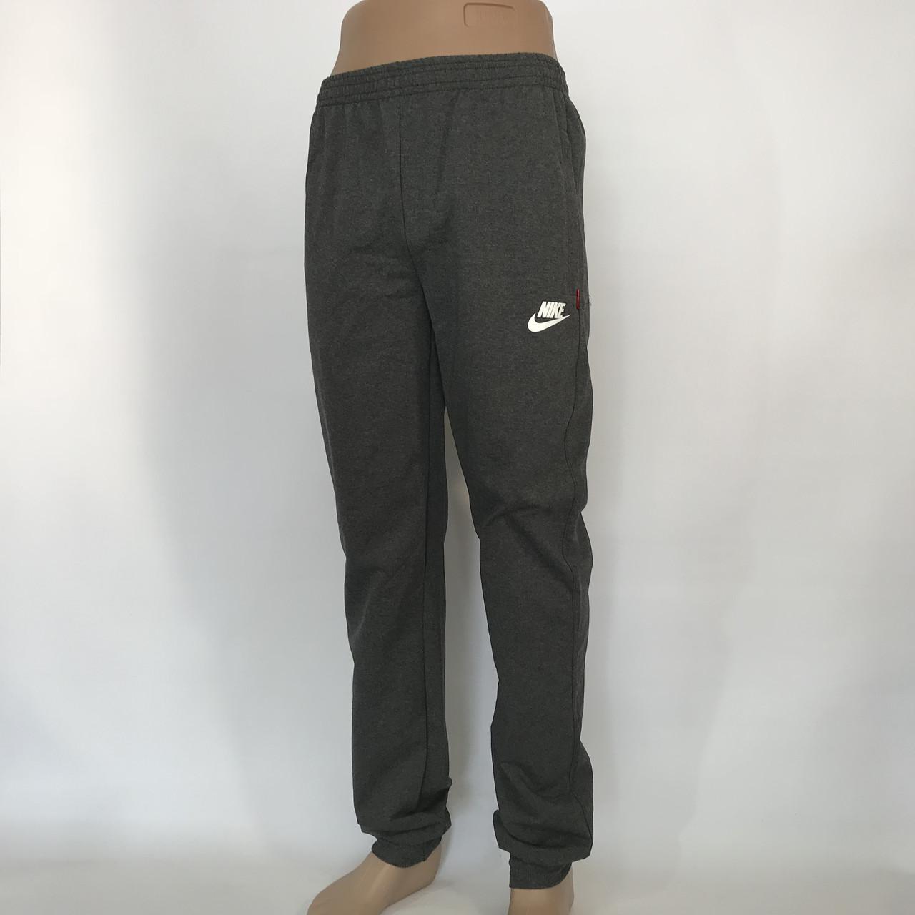 Спортивные штаны в стиле Nike под манжет 48, 50, 52, 54 / трикотажные / темно-серые
