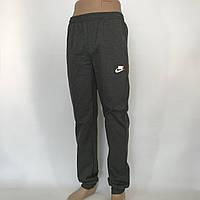 Спортивные штаны в стиле Nike под манжет 48, 50, 52, 54 / трикотажные / темно-серые, фото 1