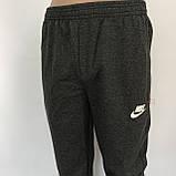 Мужские штаны под манжет трикотажные норма темно-серые, фото 2