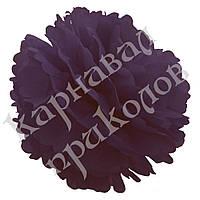Декор бумажные Помпоны 25см (баклажан 0006)