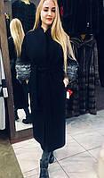 Пальто женское классическое из шерсти альпаки  Дефиле