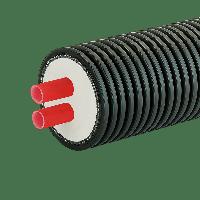 Гнучка труба в ізоляції теплотрас AustroPUR double 2-40, фото 1