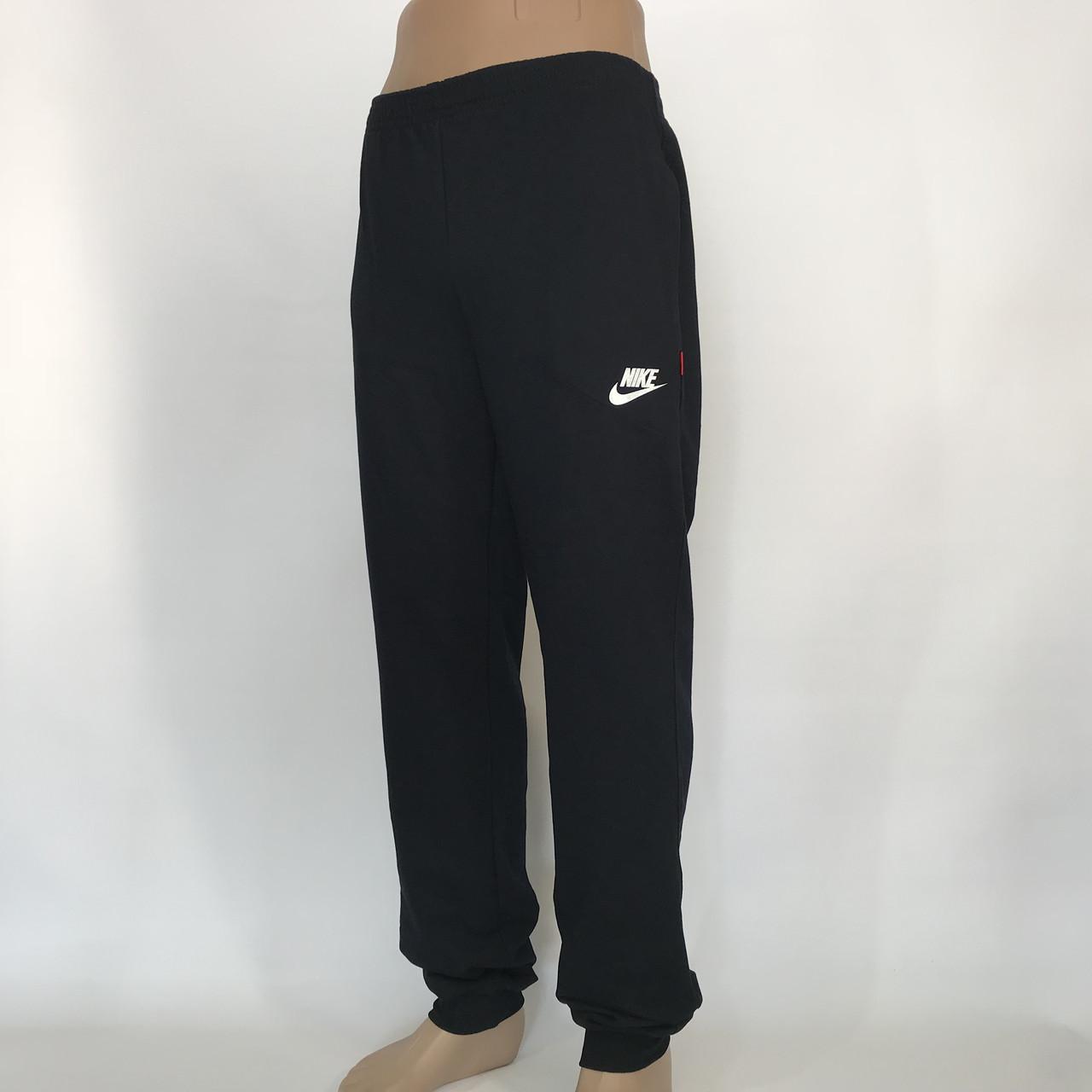 Спортивные штаны (больших размеров) в стиле Nike под манжет трикотажные темно/синие