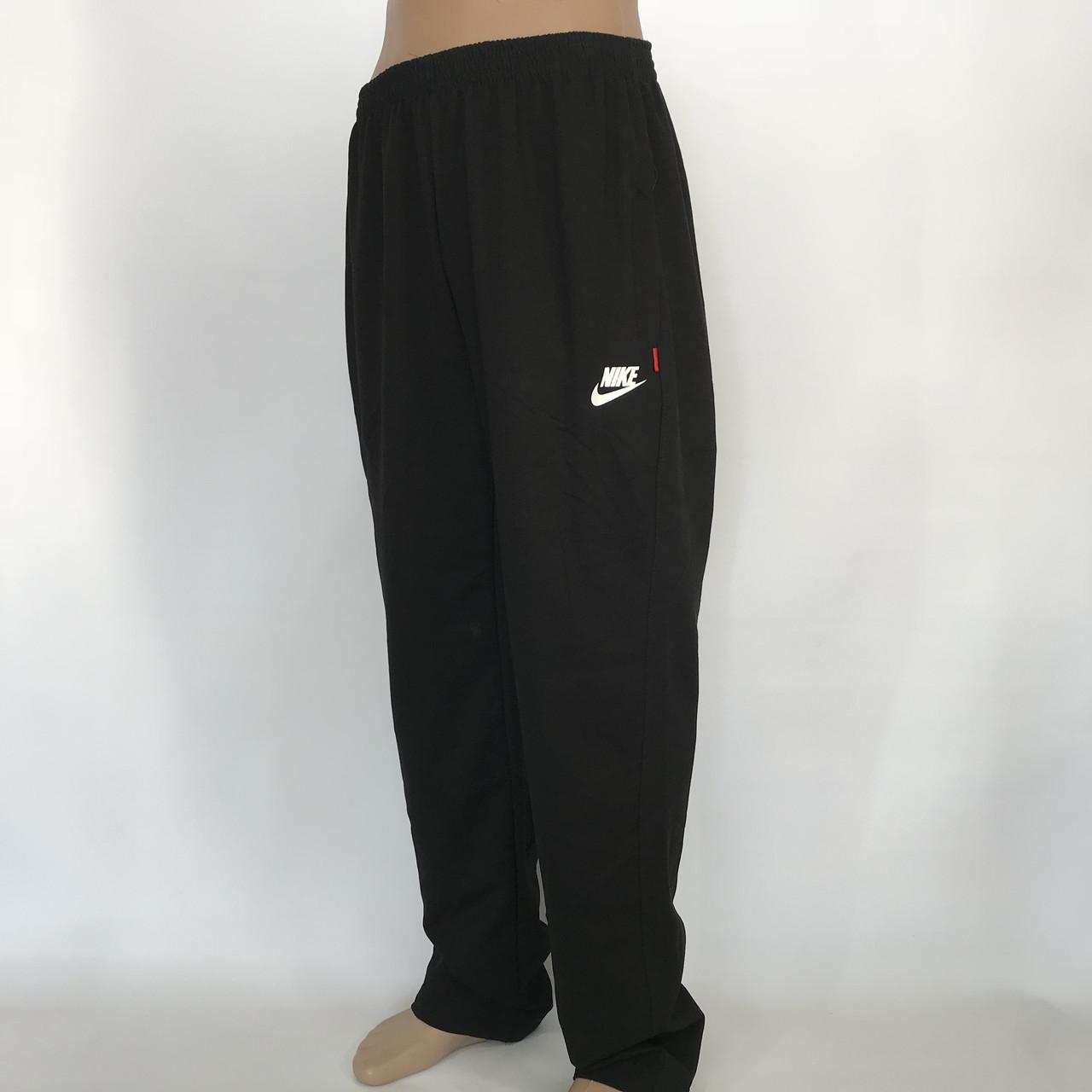 Спортивные штаны прямые в стиле Nike (большой размер) трикотажные р. 56,58,60,62,64 черные