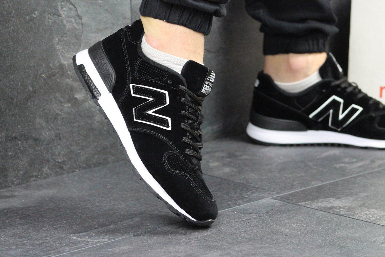 Кросівки чоловічі New Balance 1400 (чорно-білі), ТОП-репліка